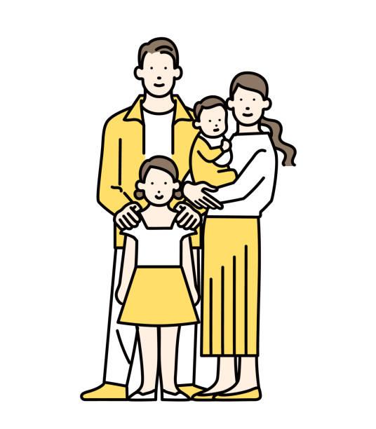 illustrazioni stock, clip art, cartoni animati e icone di tendenza di family - two students together asian