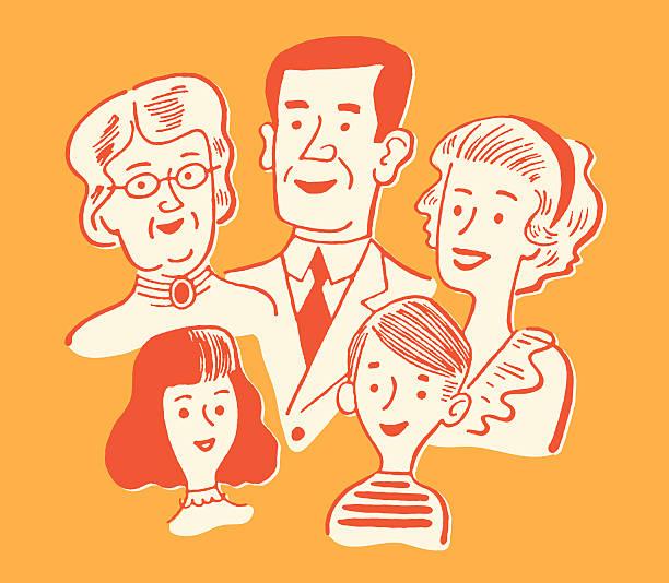 ご家族 - 親族会点のイラスト素材/クリップアート素材/マンガ素材/アイコン素材