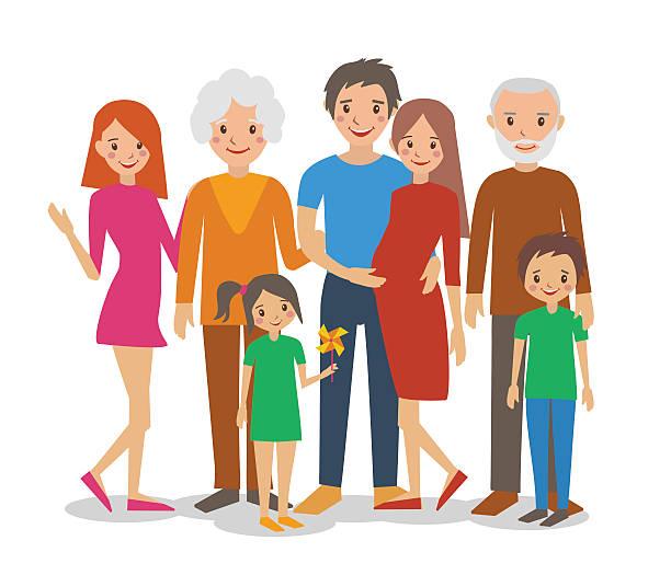 ご家族 - 家族写真点のイラスト素材/クリップアート素材/マンガ素材/アイコン素材
