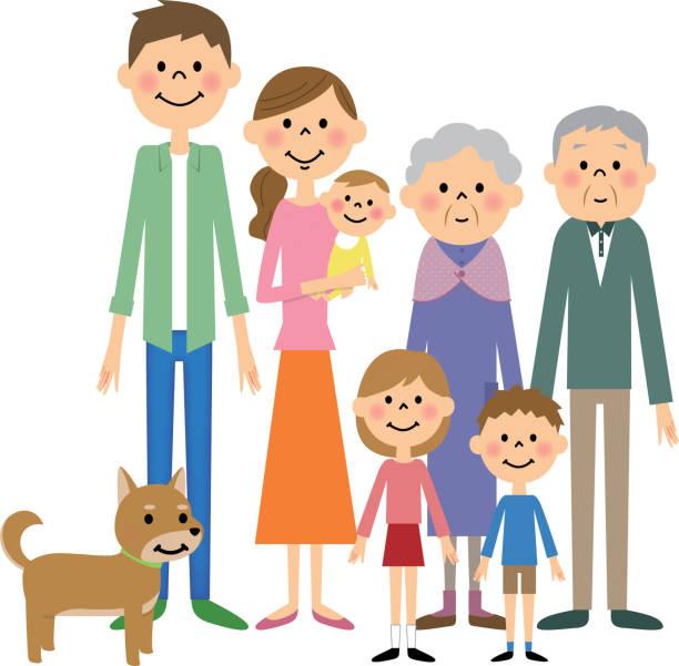 ご家族  - 家族点のイラスト素材/クリップアート素材/マンガ素材/アイコン素材