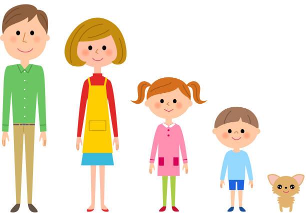 ご家族  - 母娘 笑顔 日本人点のイラスト素材/クリップアート素材/マンガ素材/アイコン素材