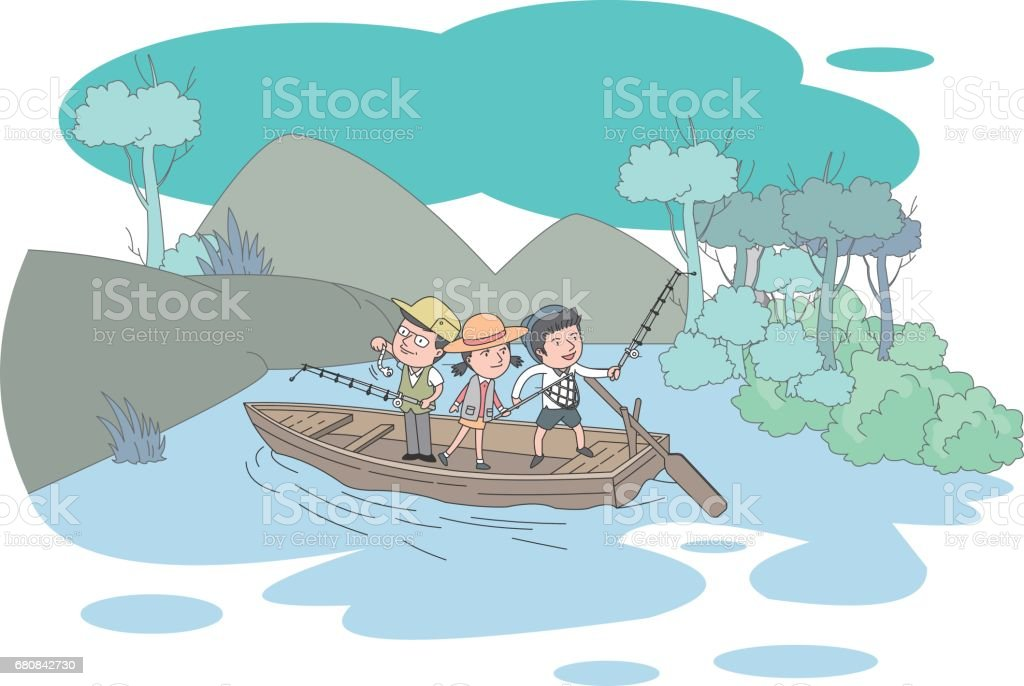 family vector art illustration