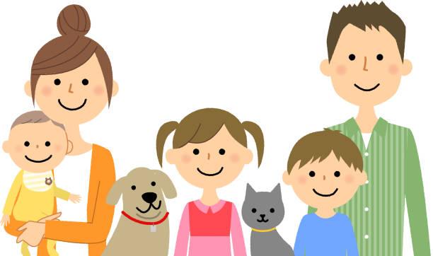 ご家族 - 家族 日本人点のイラスト素材/クリップアート素材/マンガ素材/アイコン素材