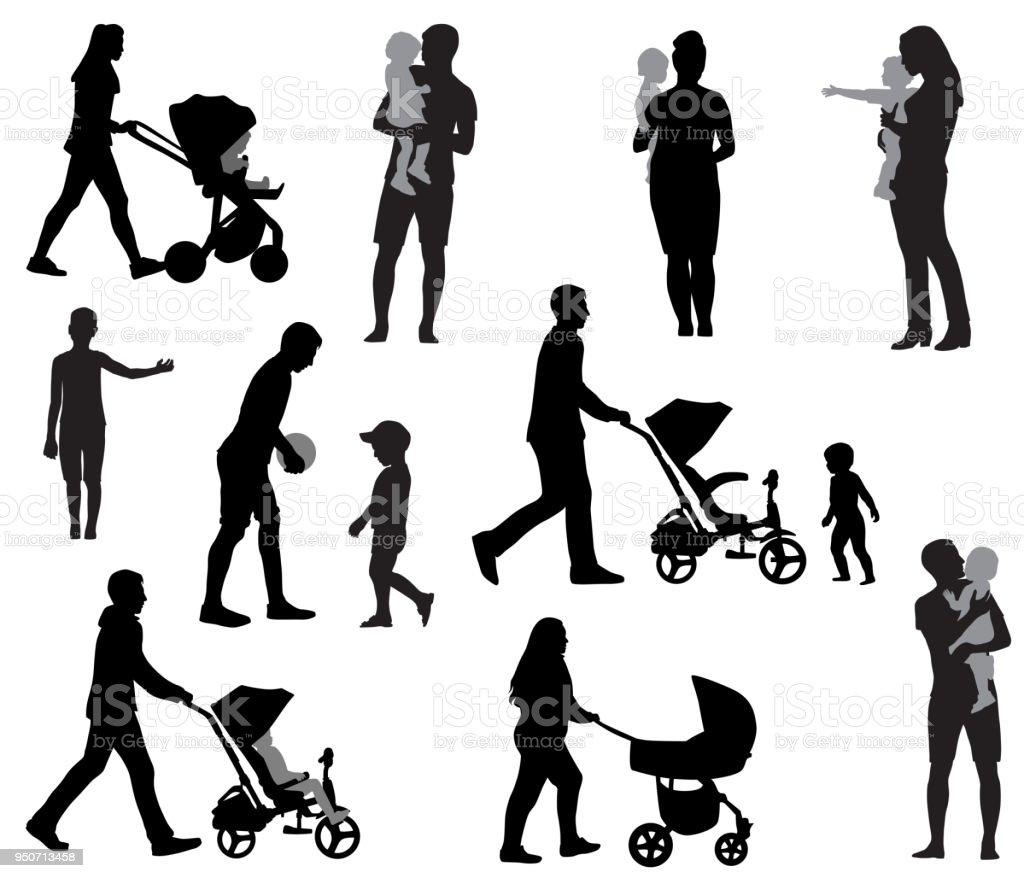 La familia - ilustración de arte vectorial