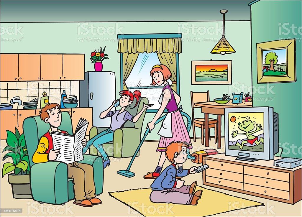 ... Family Vector Art Illustration · Living ... Part 97