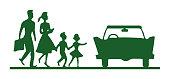 Family Walking to Car