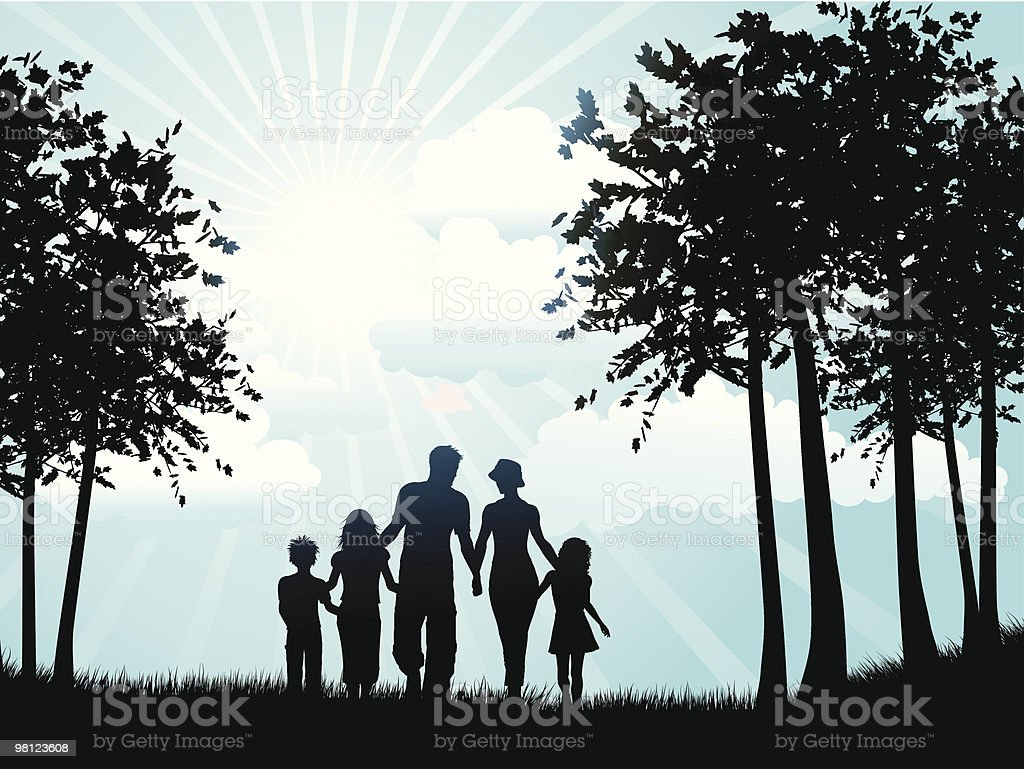 Family walking royalty-free family walking stock vector art & more images of abstract