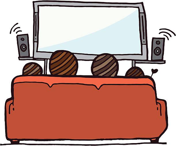 ilustrações de stock, clip art, desenhos animados e ícones de família assistir televisão - tv e familia e ecrã