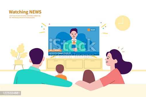 istock A family watching the news at home. 1225334881