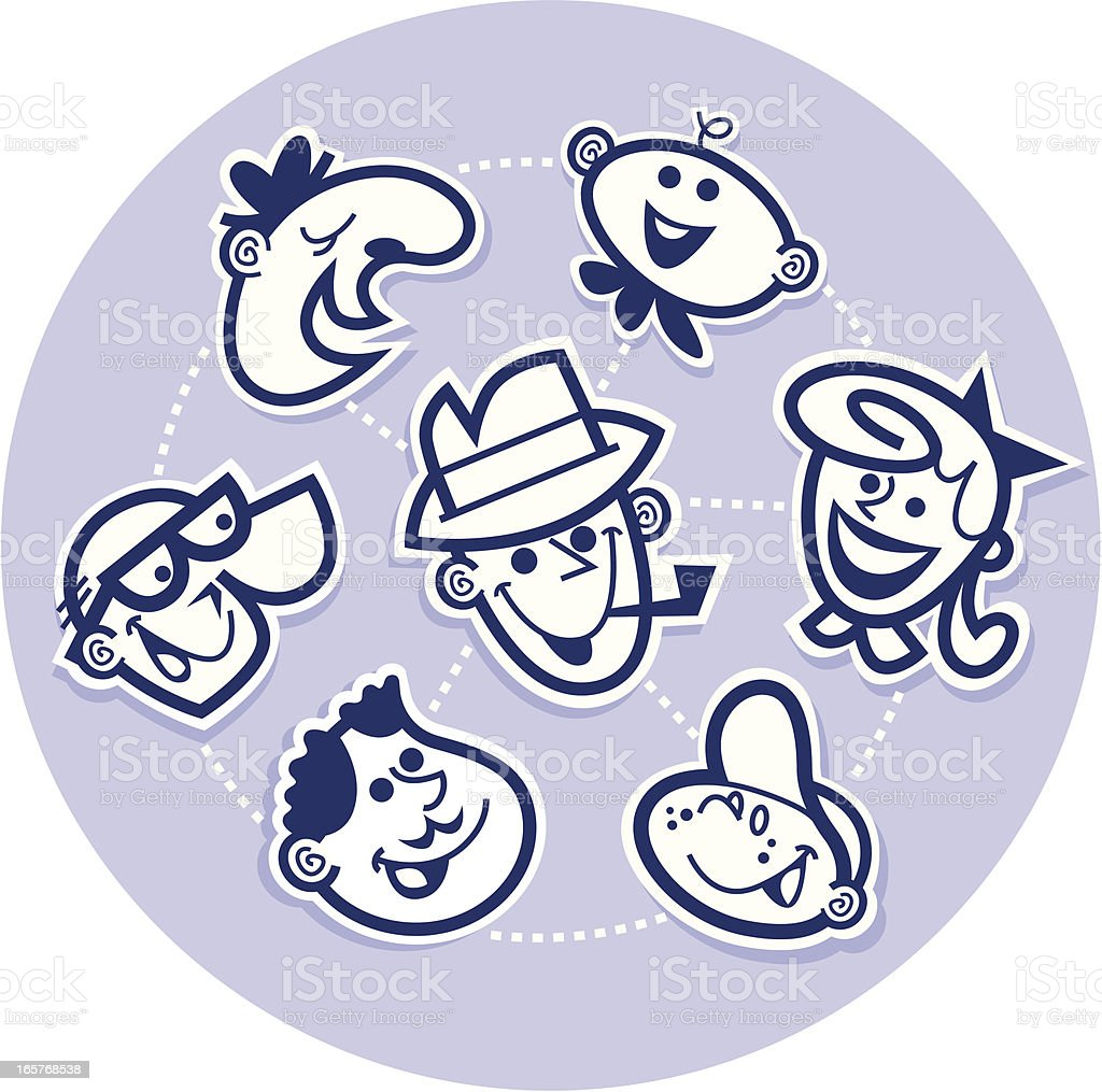 family wheel vector art illustration