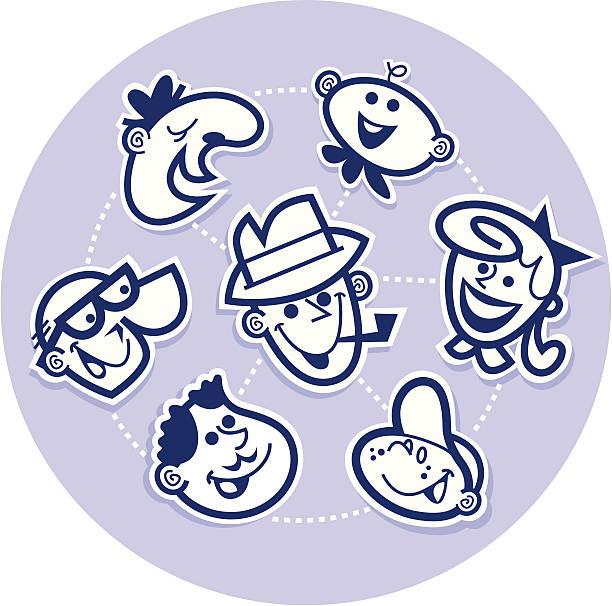 family wheel - peter bajohr stock illustrations