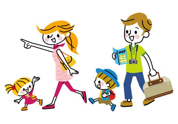 家族旅行中。 - 家族 日本点のイラスト素材/クリップアート素材/マンガ素材/アイコン素材