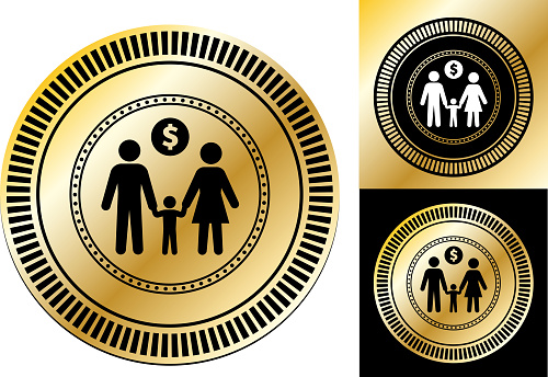 Family with a Child Money Issues Icon