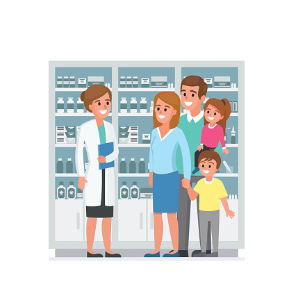 Pharmacy stock illustrations