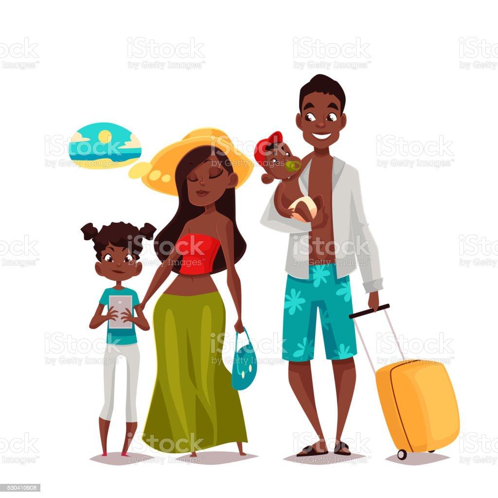 royalty free black family portrait clip art vector images rh istockphoto com black family clip art images black family clipart