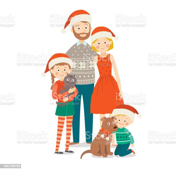 Family with two children at christmas mother father daughter and son vector id1062186756?b=1&k=6&m=1062186756&s=612x612&h=tsd54mdrqn  k6o4ni7 gfb1con6dzlg42hgf6lrccq=