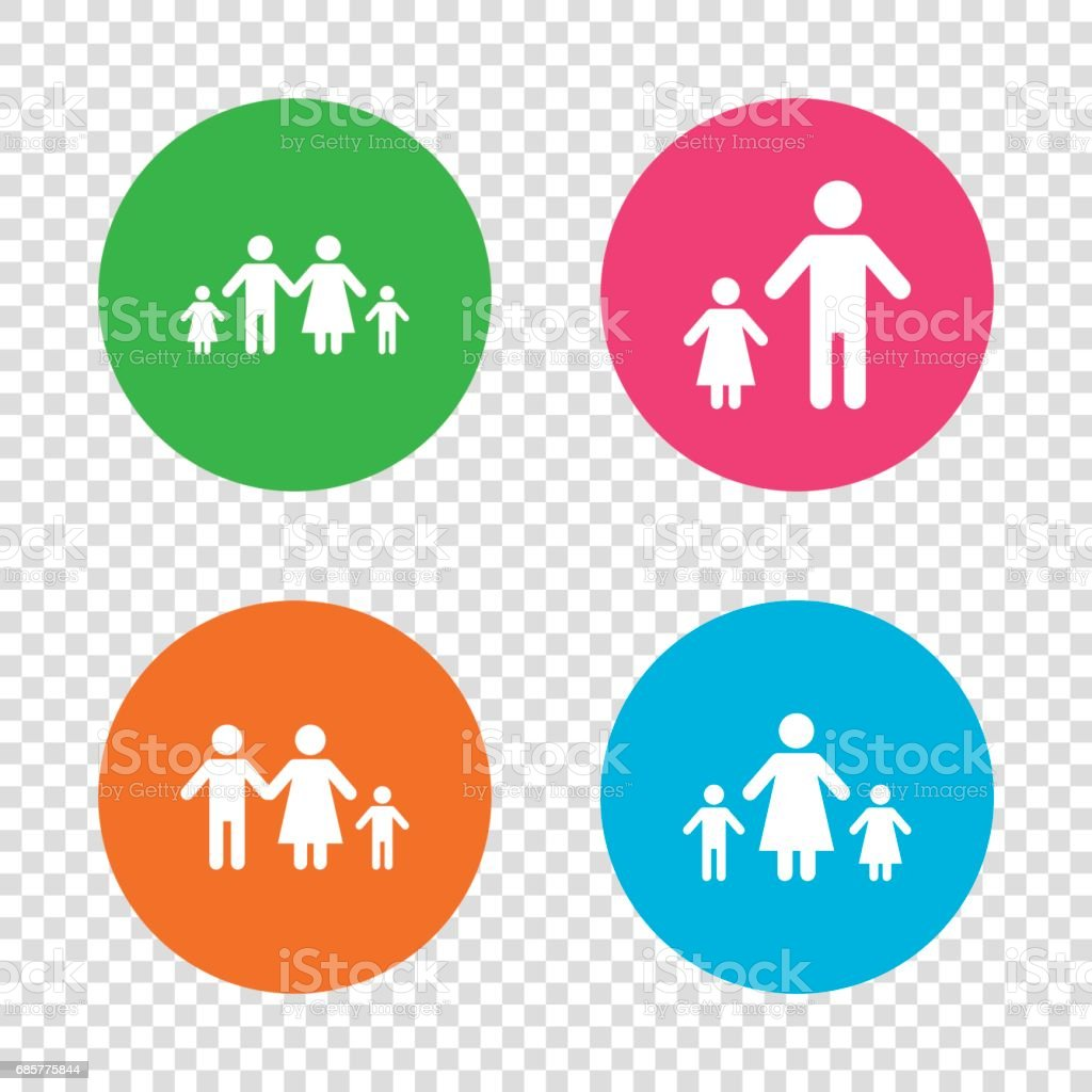 Family with two children sign. Parents and kids. royalty-free family with two children sign parents and kids stock vector art & more images of adult