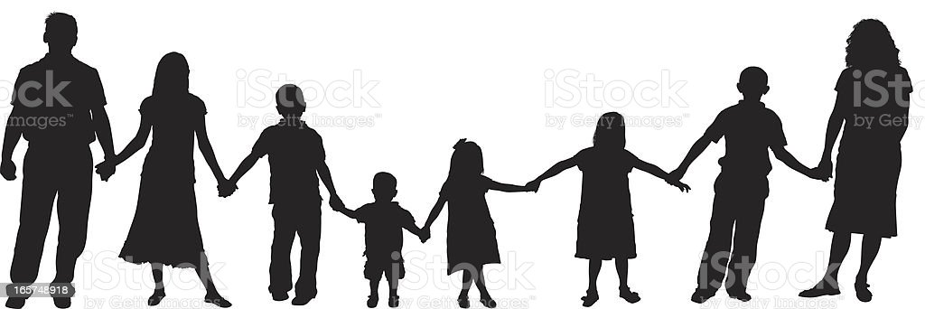 Holding Hands Family