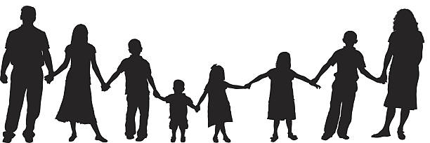 Best Large Family Illustrations, Royalty-Free Vector