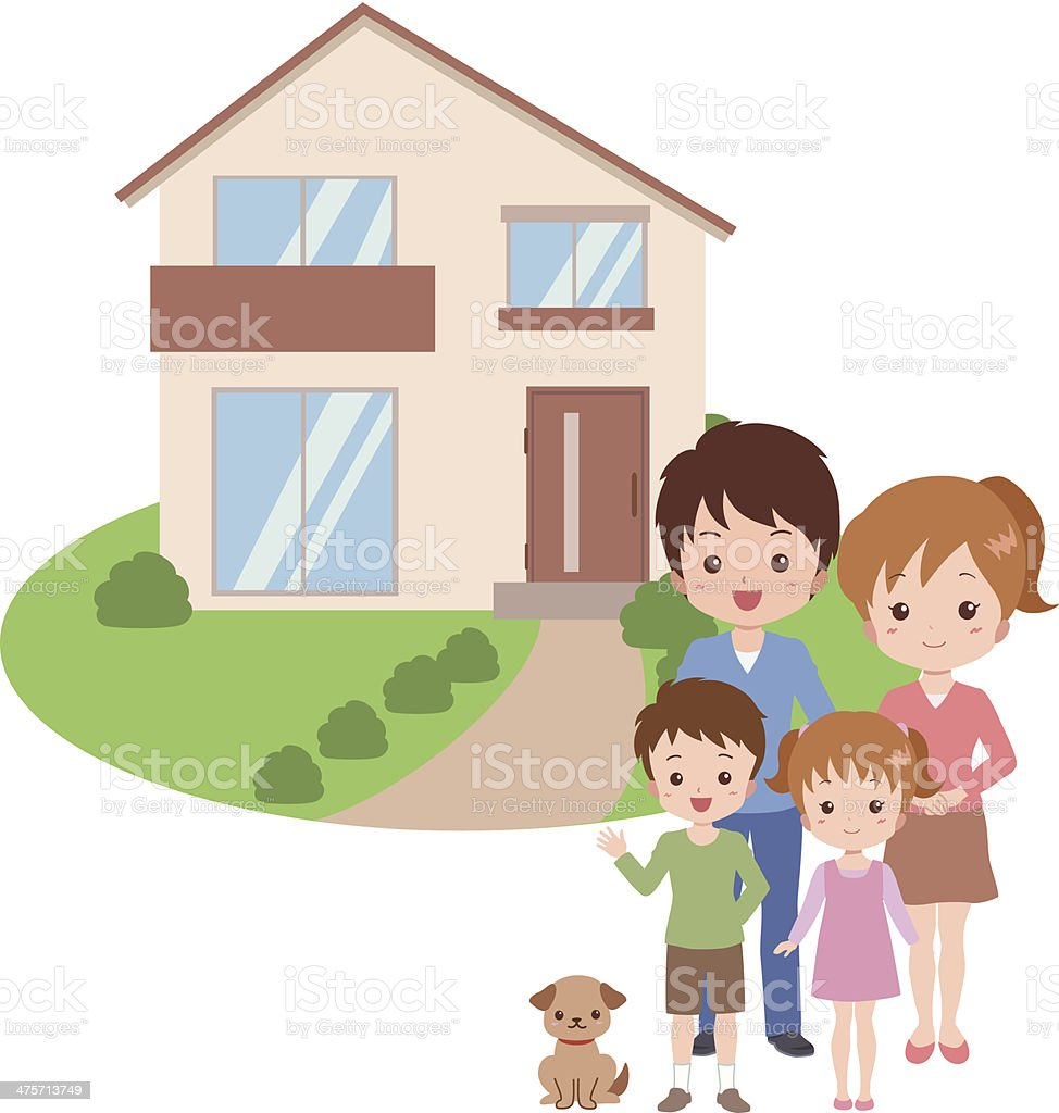 royalty free asian family new house clip art vector images rh istockphoto com Our New Home New Home Graphics