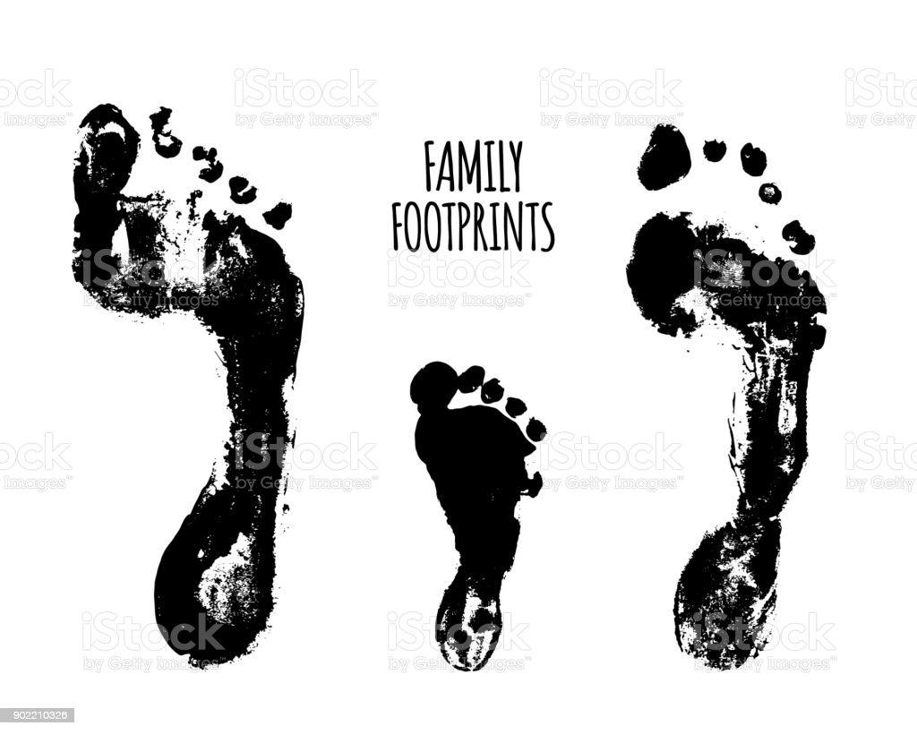 Familyfootprints vector illustration vector art illustration