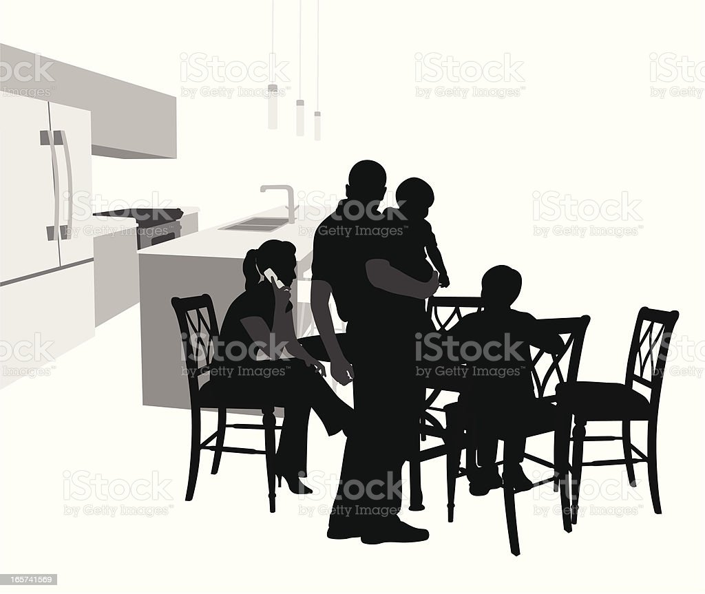 Family'n Chairs Vector Silhouette royalty-free familyn chairs vector silhouette stock vector art & more images of adolescence