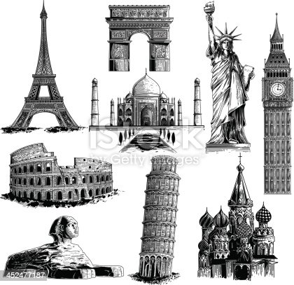 Most famous landmarks.