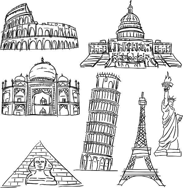 słynne malowniczych miejsc pobrania - white house stock illustrations