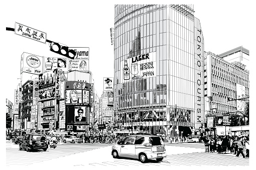 TOKYO, famous Shibuya crossroad