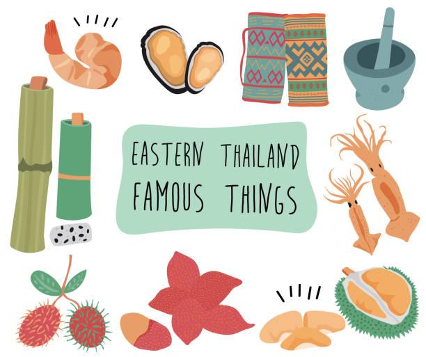 bekannte dinge in ost-thailand - pattaya stock-grafiken, -clipart, -cartoons und -symbole