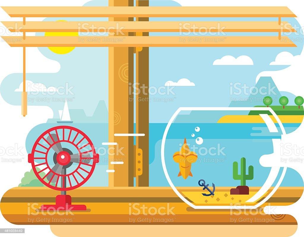 Open window beach - Open Window Beach Clip Art Vector Images Illustrations