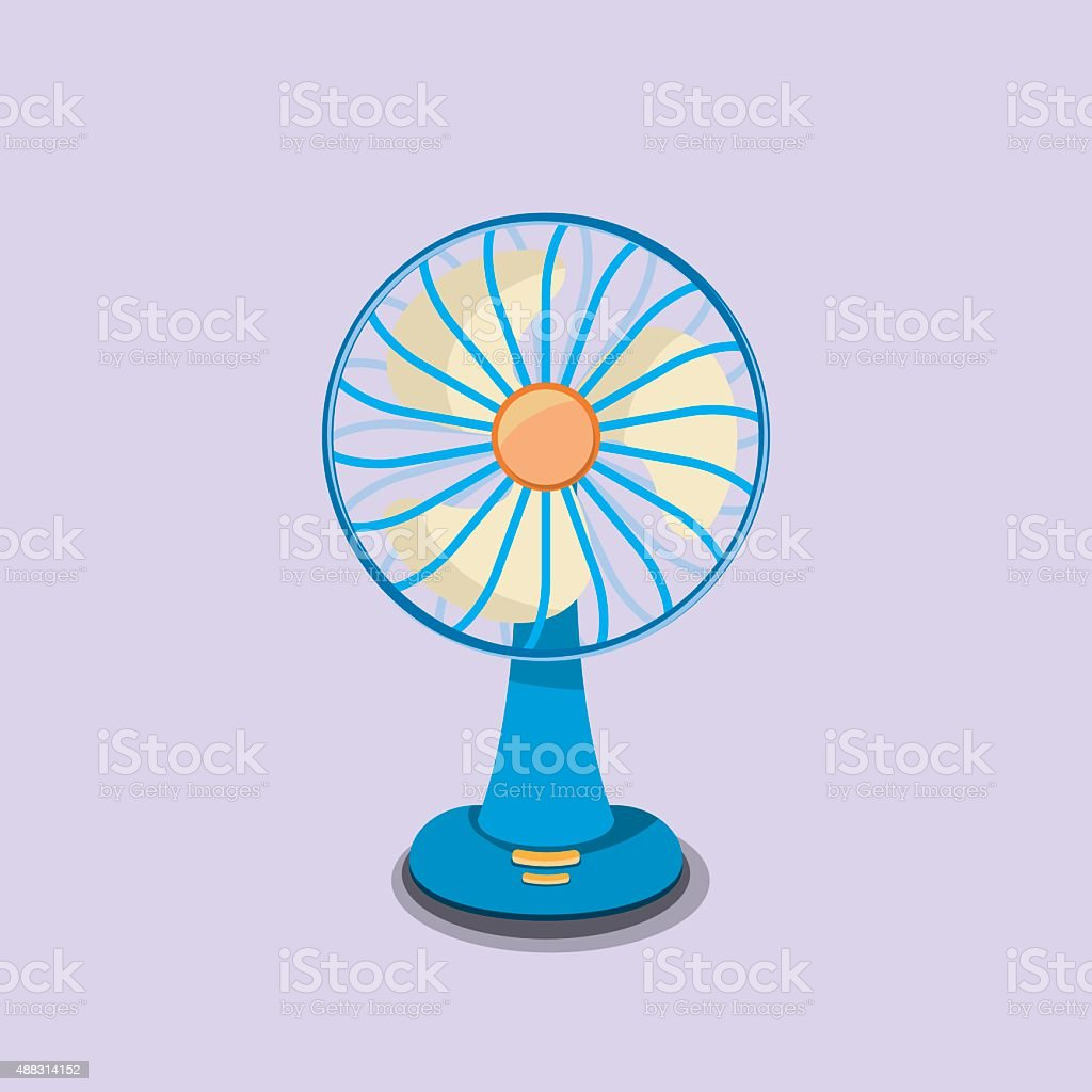 Fan. flat design vector art illustration