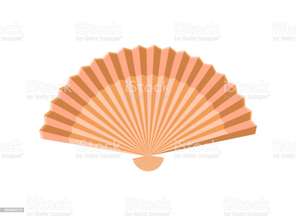 Fan icon. Isolated on white background. Vector illustration. - Royalty-free Art stock vector