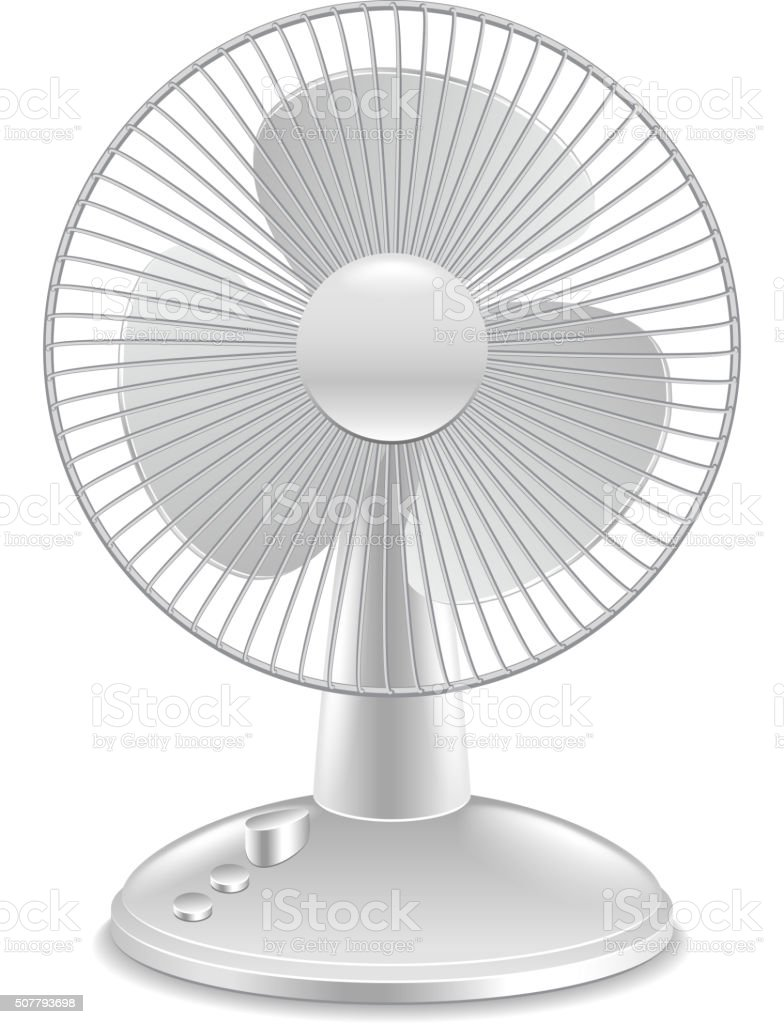 Fan isolated on white vector vector art illustration
