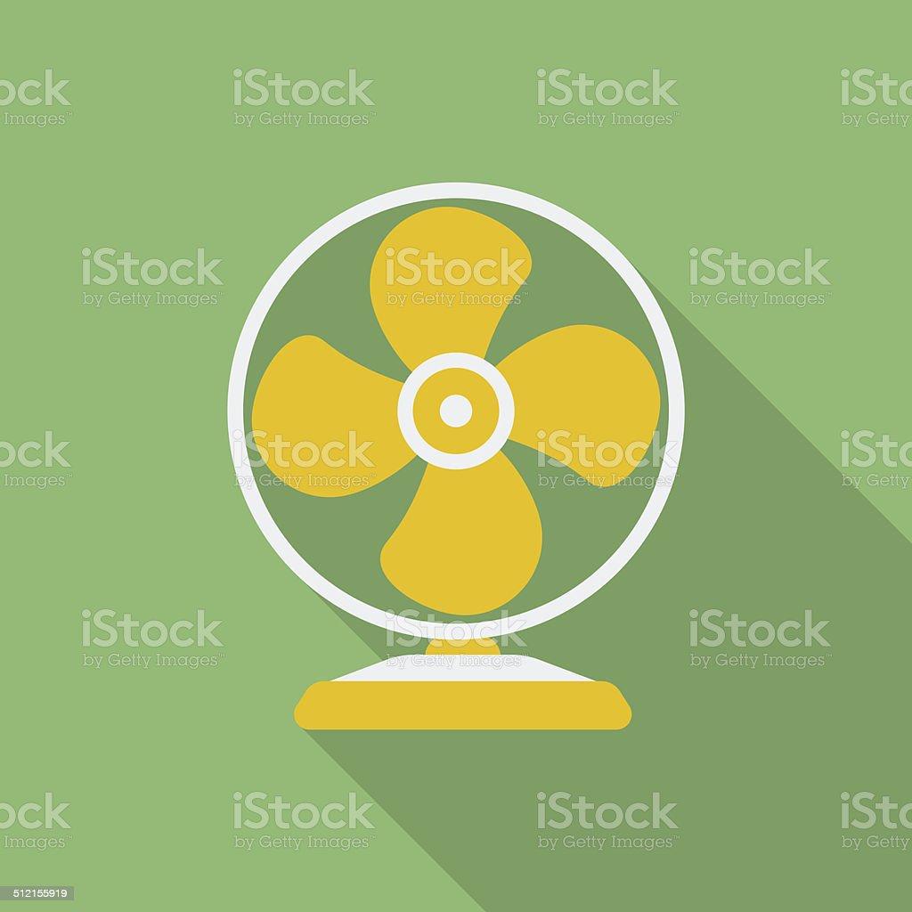 Fan or ventilator icon. vector art illustration