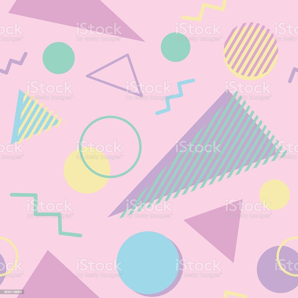 Fancy 80's pattern vector art illustration