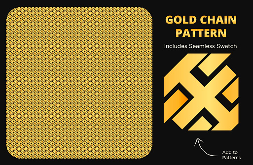 Fancy and Luxurious Bright Gold Seamless Pattern Texture for Gold Chain Design