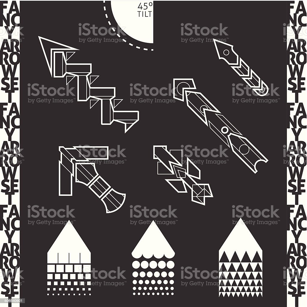 Fancy Arrows Set Stock Illustration - Download Image Now - iStock