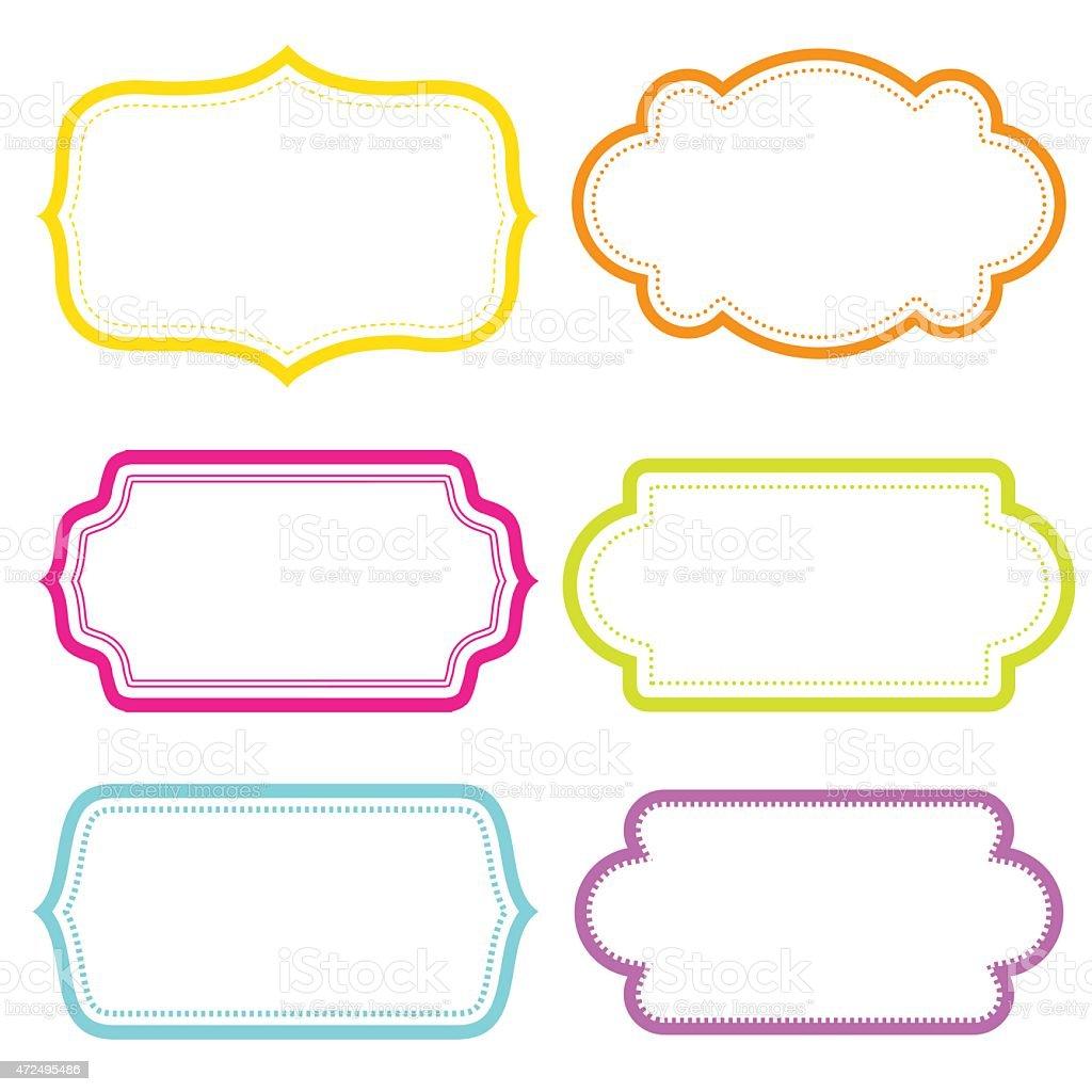 Fancy Blank Label stock vector art 472495486 | iStock