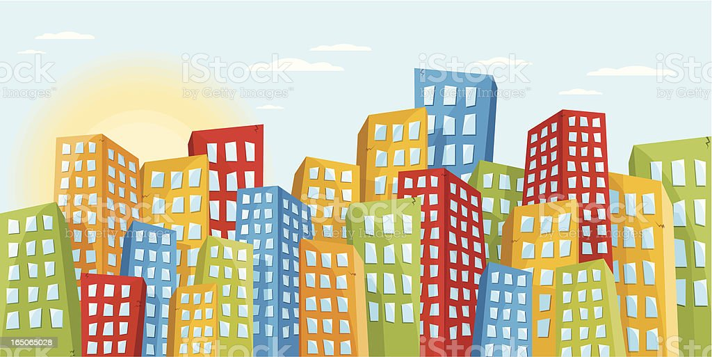 Fancy Buildings royalty-free stock vector art
