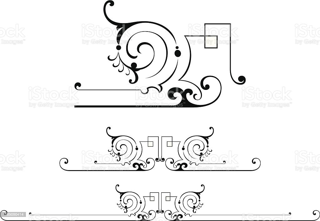 Fancy Centres and Rulelines royalty-free stock vector art