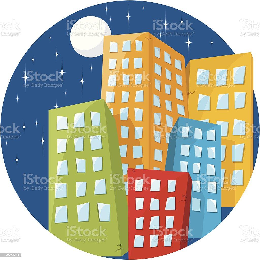 Fancy City royalty-free stock vector art