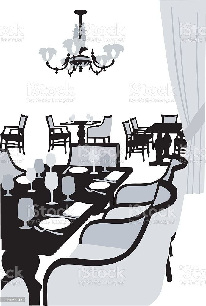 Fancy Dining vector art illustration