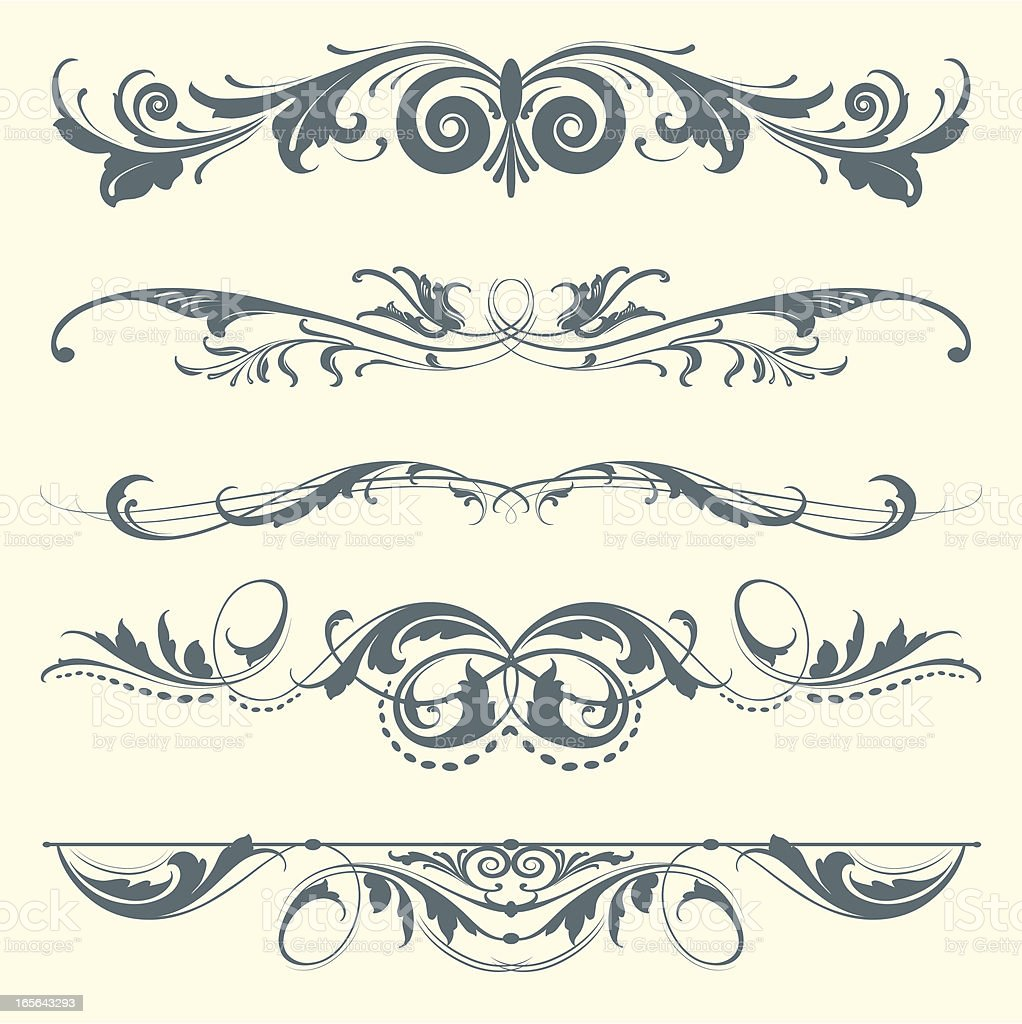 Fancy Dividing Elements royalty-free stock vector art