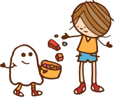 Fancy dress kid in halloween costume
