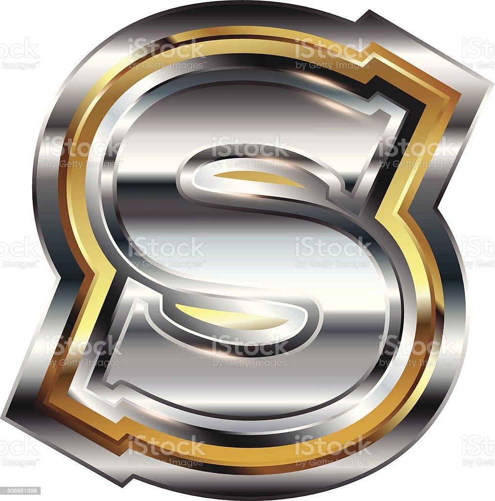 Fancy Font Letter S Stock Vector Art More Images Of Alphabet