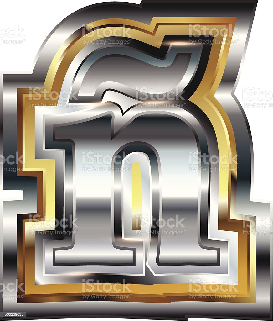 Fancy font Letter ñ royalty-free stock vector art