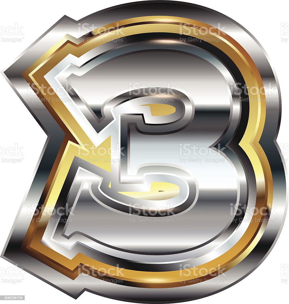 Fancy font Number 3 royalty-free stock vector art