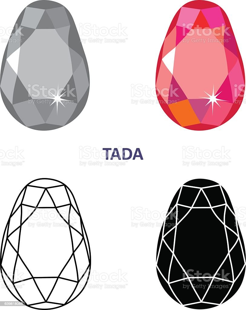 Fancy Gem Cut Stock Illustration - Download Image Now - iStock