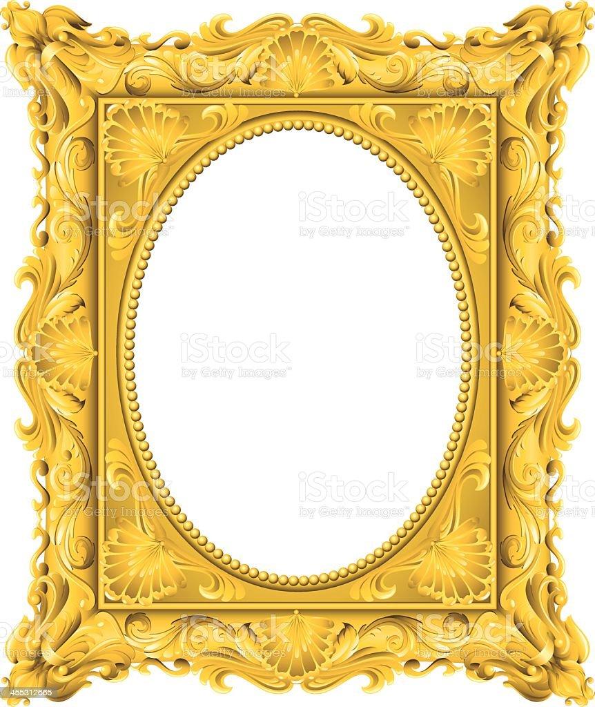 Fancy Gold Oval Frame Stock Vector Art & More Images of Art ...